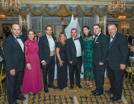 Polys Hajioannou with Members of the Board of the Hellenic American Chamber of Commerce